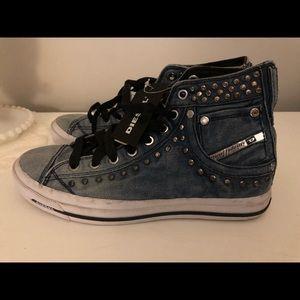 Diesel Shoes - New woman's Diesel denim hightop sneakers 7.5